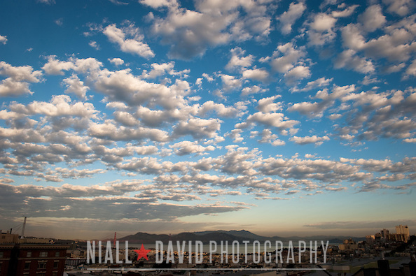 Sunrise Clouds San Francisco Bay Nob Hill Golden Gate Bridge City Urban Niall-David-Photography-1372