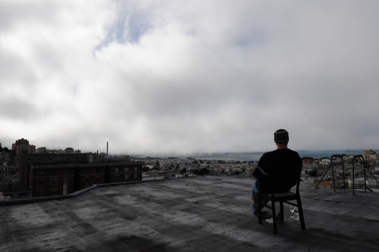 Time Lapse Photography of Foggy San Francisco Bay from the Top of Nob Hill