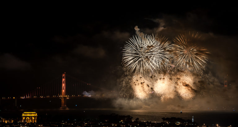 Happy 75th Anniversary Golden Gate Bridge! Fireworks Over the San Francisco Bay!